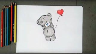Видео: как нарисовать мишку тедди с шариком