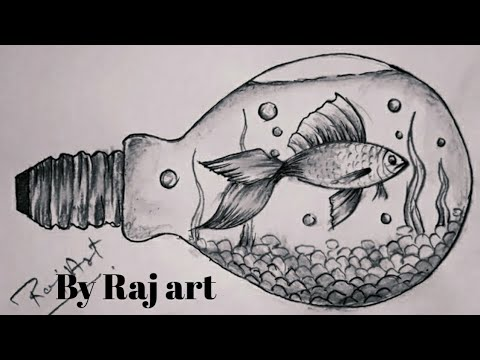 Fish drawing pencil sketch step by step.fish sketch very easy.painting by raj art ajmer.