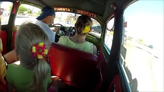 Fun drive around old town in an old Volkswagen Bug GoPro time lapse