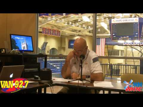 Hope College Head Football Coach Dean Kreps discusses his team during the MIAA football conference call on Aug. 7, 2014.