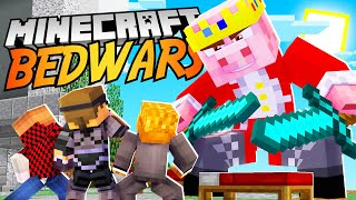TEAM CRAFTED Plays Minecraft BED WARS!