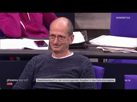 Bundestagsdebatte zu den einzutragenden Angaben in das Geburtenregister am 11.10.18