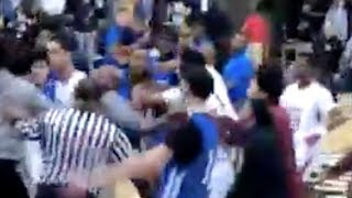 Lamelo Ball Spire FIGHT Breaks Out & CLEARS BENCH After Crazy Dunks! by Obsev Sports