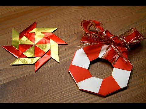 Origami - D�coration de No�l : L'�toile magique
