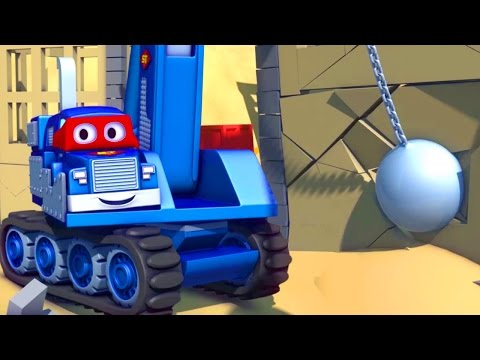 Carl the Super Truck and the Demolition Crane in Car City | Cars & Trucks Cartoons for kids