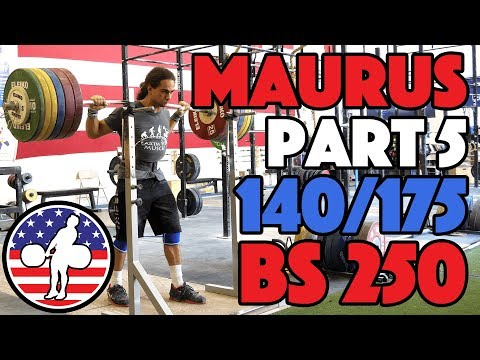 Harrison Maurus Part 5/11 Pre 2017 WWC Training 140/175 + 250kg BS [4k60]