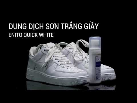 Review sản phẩm sơn phủ xước, che ố giày Enito Quick White