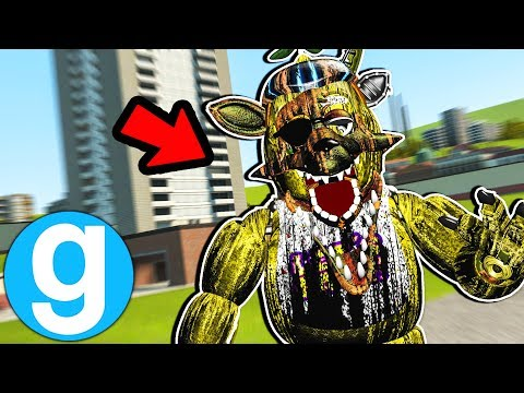 New Fnaf Golden Era Pill Pack Animatronic! Five Nights at Freddy's Gmod Garry's Mod Funny Moments (видео)