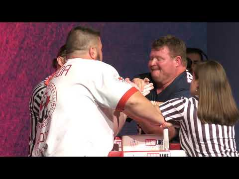World Arm Wrestling Championship 2018 (Finals Masters LEFT HAND )