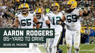 Aaron Rodgers Leads an 85-Yard TD Drive!   Bears vs. Packers   NFL by NFL