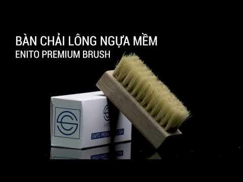 Review bàn chải lông ngựa mềm Enito Premium Brush