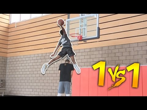1 V 1 VS HIGHSCHOOL #1 PG ALL AMERICAN  JAYLEN HANDS! (видео)