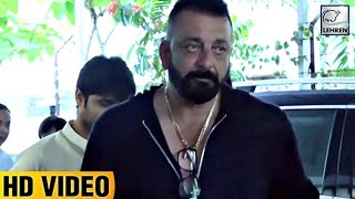 Sanjay Dutt Spotted Outside T-Series Office | LehrenTV
