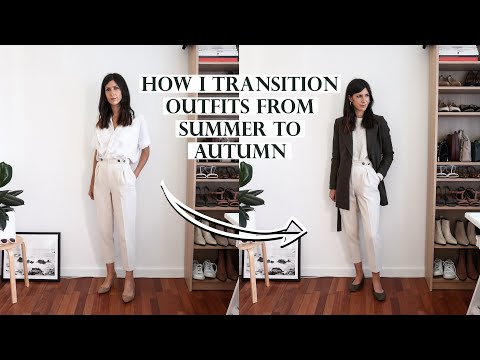 TRANSITIONAL OUTFIT IDEAS - How I transition my summer outfits for the autumn season … видео