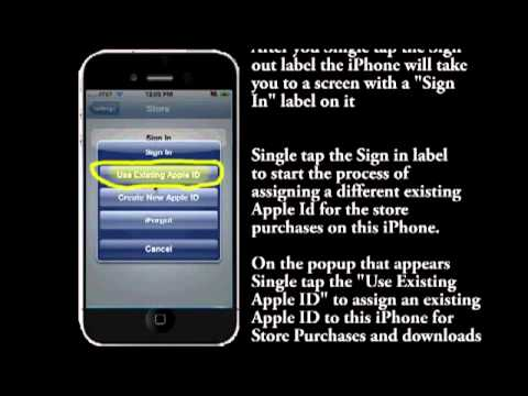 Change Itunes Store Apple Id on your iPhone/iPad or iTouch Step by Step Video instruction