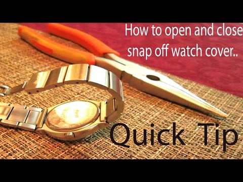 Quick TIP on How to open and close snap off watch back cover without special tools видео