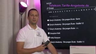 In diesem Video zeigen wir Ihnen die intelligente Suche des Telekom MR400 / MR200 - mit der Suchfunktion durchsuchen Sie alle Inhalte Ihres Media Receivers - vom TV-Programm über Mediatheken und Online-Videotheken bis hin zu Web-Inhalten.Telekom Entertain TV Tarife und Angebote: https://telekom.tarife-angebote.de/entertain -