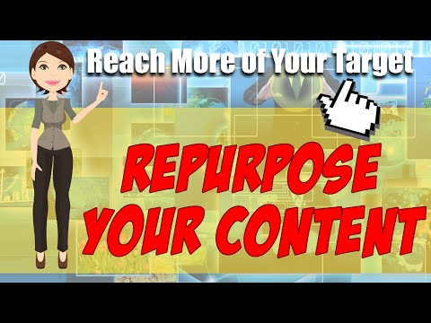 Watch 'How to Reach More of Your Target Market By RePurposing Your Content - YouTube'