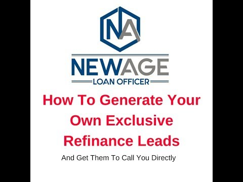 How To Generate Your Own Exclusive Mortgage Leads