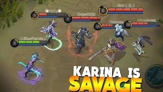Video WHY I LOVE Karina! 3 Savages/Pentakills Gameplay Mobile Legends MP3, 3GP, MP4, WEBM, AVI, FLV Februari 2018