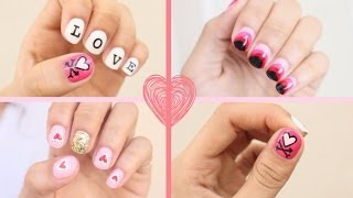 2015 Valentine's Day Nail Art: 3 Easy Designs!!! - YouTube