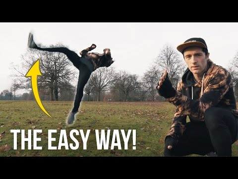 HOW TO GAINER FLASH (Cheat Gainer / Kick The Moon) | Tricking Tutorial (видео)