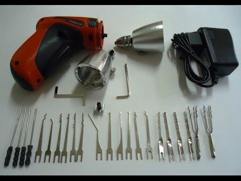 fechaduras - A Ferramenta Pick Gun é Direcionada Para Profissionais Chaveiros! É Uma Ótima Ajuda Para Os Chaveiros. Ela é Recarregável e Fácil Transporte. Para Comprar En...