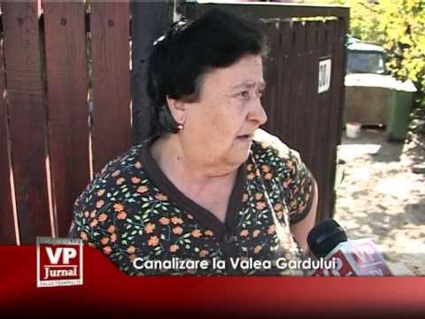 Canalizare la Valea Gardului