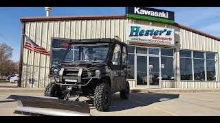 3. 2020 Kawasaki Mule Pro FXT Ranch, Elka shocks, cab heater and more!