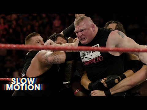 Experience Brock Lesnar and Samoa Joe's Raw brawl in visceral slow motion: Exclusive, June 13, 2017