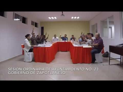 Sesión Ordinaria No.23 del Ayuntamiento 17 de octubre de 2016