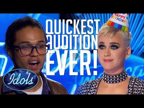 QUICKEST AUDITION EVER! Cody Martin Gets A YES In Under 1 MINUTE On American Idol 2018 - Thời lượng: 0:57.