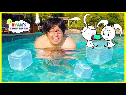 Swimming in Super COLD Water + FUNNY Cartoon Animated  NEW CHANNEL EK DOODLES