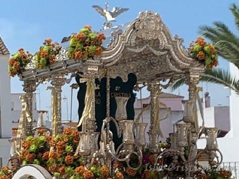 La Hdad del Rocío de Isla Cristina a su paso por Pozo del Camino y La Redondela