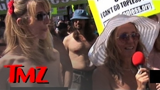 Topless Rally Storms Los Angeles!
