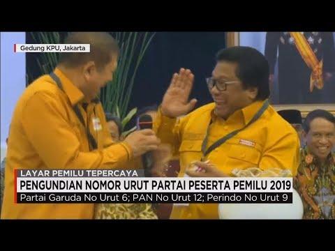 Live Now! Elit Partai Politik Kumpul, Pengundian Nomor Urut Parpol Peserta Pemilu 2019