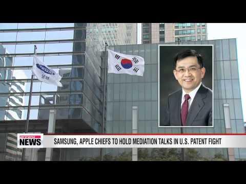 Samsung, Apple CEOs to hold mediation talks on patent fight