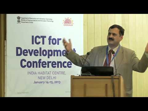 Pavan Duggal, Advocate, Supreme Court of India, on security in a networked world at ICT4D conference