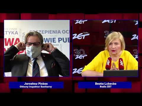 """""""Maseczka świadczy o tym, że jest pandemia"""" J. Pinkas, Główny Inspektor Sanitarny"""
