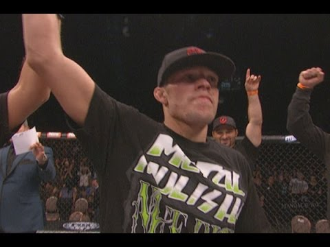 post - TUF 18 main event winner Nate Diaz give some shout outs following his first round TKO of two-time foe Gray Maynard. Diaz thanks his brother, Nick, training p...