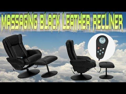 Relaxzen 60-425111 Leisure Recliner Chair With 8-Motor Massage & Heat, Brown