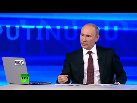 Video! - Russian President Vladimir Putin is holding his annual televised question and answer session in which he is expected to speak about Crimean integration into ...