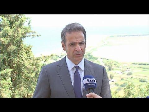 Περιοδεία του πρόεδρου της ΝΔ Κυρ. Μητσοτάκη στη Λευκάδα
