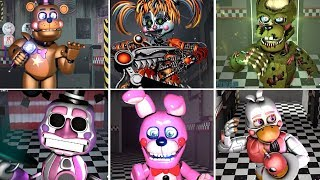 FNAF SFM: ALL FNaF Ultimate Custom Night Voices! (UCN Five Nights At Freddy's Animation)