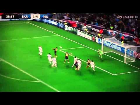 Barcellona Milan 3-1 (Highlights) 6/11/13 ampia sintesi