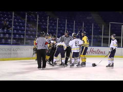 Mens Hockey TWU - 5 UVIC - 1 - Highlights January 23rd, 2015