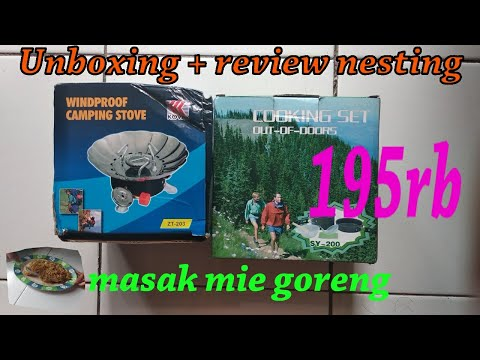 [Unboxing + Review] Nesting Cooking Set + Kompor Windproof