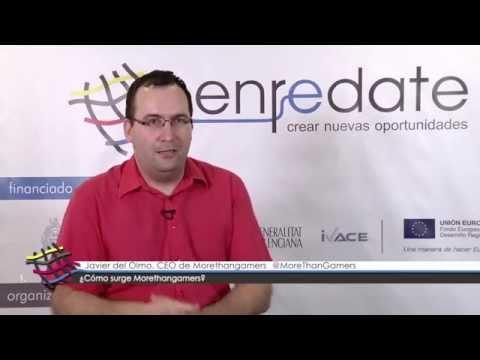 Javier del Olmo. CEO de Morethangamers en #EnredateElx 2014