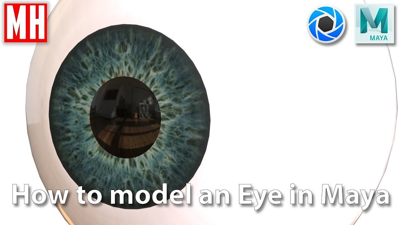 modeling 3d eyeball maya tutorial