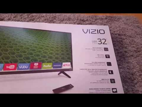 Unboxing Vizio D32-D1 1080p smart TV 120Hz